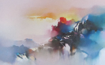 Voyage of the Dawn 1990 32x42 Original Painting - Hong Leung
