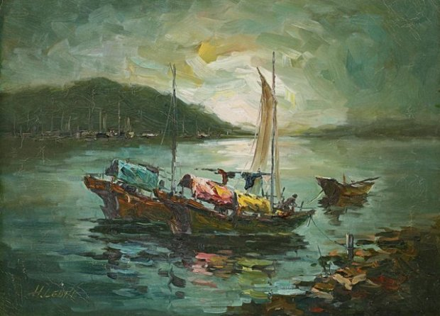 Hong Kong Harbour 26x32
