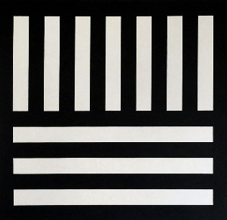Black Bands in Two Directions (From Bam III Portfolio) 1991 Limited Edition Print - Sol LeWitt