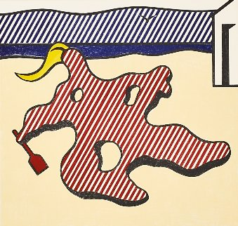 Nude on Beach, From Surrealist Series  1978 Limited Edition Print - Roy Lichtenstein