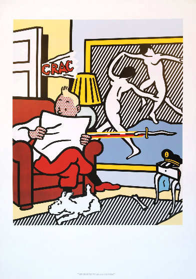 Tintin Reading 1994 by Roy Lichtenstein