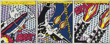 As I Opened Fire, (Set of 3) Museum Poster 1983 Limited Edition Print - Roy Lichtenstein
