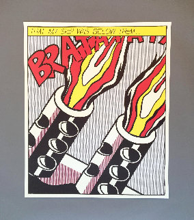 As I Opened Fire 1983 Limited Edition Print - Roy Lichtenstein