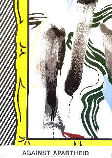Against Apartheid 1983 Limited Edition Print - Roy Lichtenstein