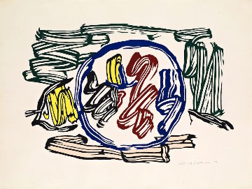 Apple And Lemon 1983 Limited Edition Print - Roy Lichtenstein