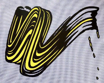 Brushstroke (Hand Signed) 1965 Limited Edition Print - Roy Lichtenstein