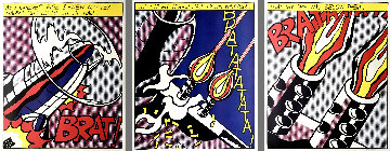 As I Opened Fire (Triptych) 1969 HS Limited Edition Print - Roy Lichtenstein