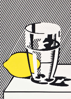 Untitled Still Life With Lemon And Glass For Meyer Schapiro 1974 Limited Edition Print - Roy Lichtenstein