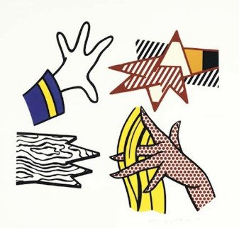 Study of Hands 1981 Limited Edition Print - Roy Lichtenstein
