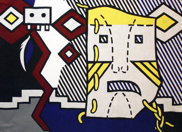 American Indian Theme V 1980 Limited Edition Print - Roy Lichtenstein