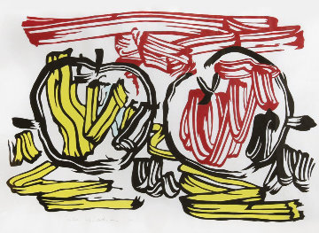 Red Apple And Yellow Apple 1983 Limited Edition Print - Roy Lichtenstein