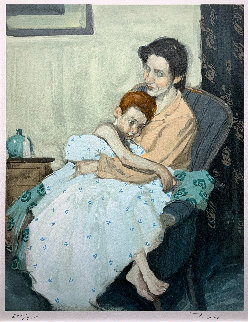 Mother And Child Limited Edition Print - Malcolm Liepke