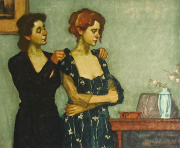 Helping With the Dress Limited Edition Print - Malcolm Liepke