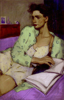 Reading in Bed 2002 Limited Edition Print - Malcolm Liepke