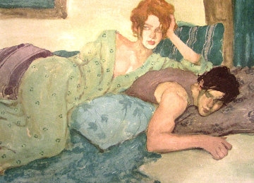 Seduction in Blues & Greens 1994 Limited Edition Print - Malcolm Liepke