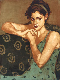 Pensive 2000 Limited Edition Print - Malcolm Liepke