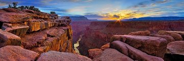 Blaze of Beauty (Grand Canyon, AZ) Panorama - Peter Lik