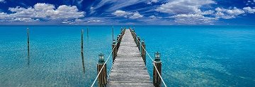 Tranquil Blue (Florida Keys) Panorama - Peter Lik