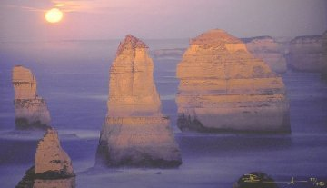 12 Apostles Moonglow Panorama - Peter Lik