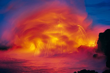 Ocean Fire Panorama - Peter Lik