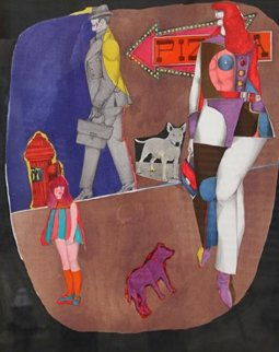 First Ave (Pizza) 1969 Limited Edition Print - Richard Lindner