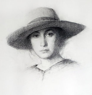 Summer Hat 2002 26x25 Works on Paper (not prints) - Jeremy Lipking