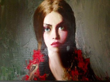 Sue 2009 19x37 Original Painting - Taras Loboda