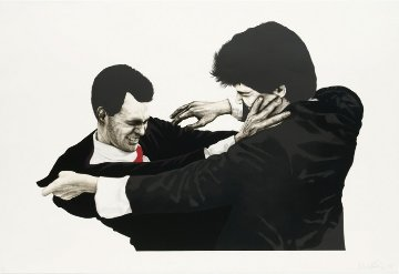 Frank and Glen 1991 45x60 Limited Edition Print - Robert Longo