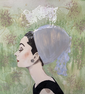 Audrey Hepburn 48x48 Original Painting - Ashley Longshore