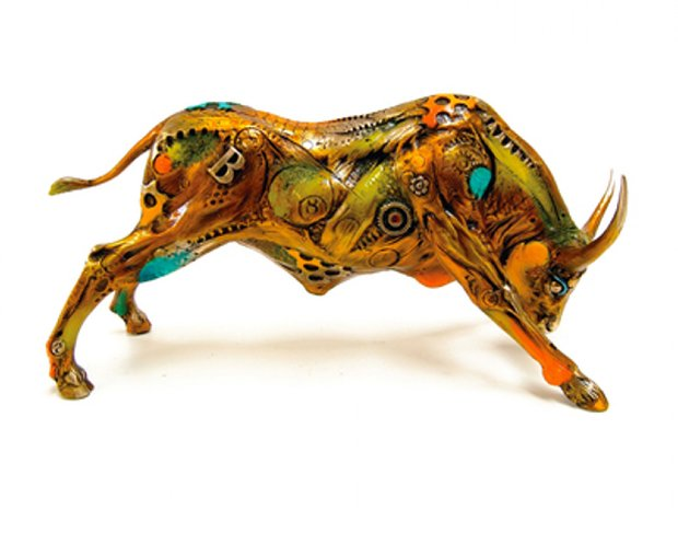 Torito the Bull Bronze Sculpture 2008 14 in