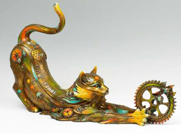 Catfish Lily Bronze Sculpture 2008 31 in