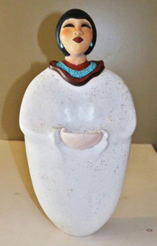 Earth Mother Ceramic Sculpture 21 in