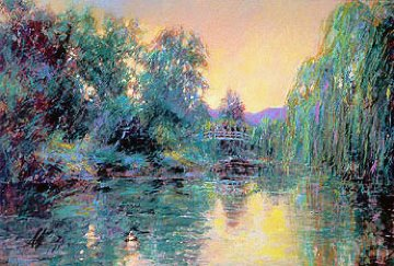 Homage to Monet 1987 w Remarque Limited Edition Print - Aldo Luongo