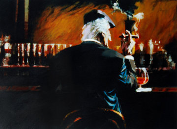 Smoke Bar II 2000 Embellished Limited Edition Print - Aldo Luongo