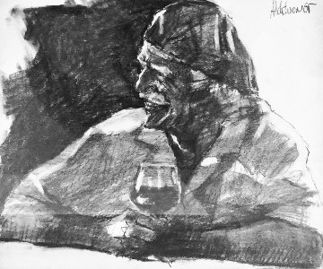 Great Bordeaux Drawing 2002 20x22 Drawing - Aldo Luongo