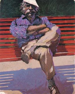 Red Bench Limited Edition Print - Aldo Luongo
