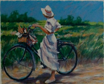 Country Bike Ride 1987 Limited Edition Print - Aldo Luongo