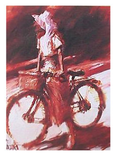 Girl on Bicycle 1993 Limited Edition Print - Aldo Luongo