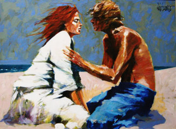 Lovers 2008 36x48 Original Painting - Aldo Luongo