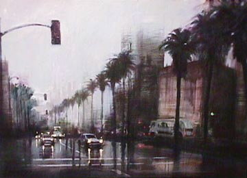 Rainy Day on Wilshire - LA - Ca Limited Edition Print - Aldo Luongo
