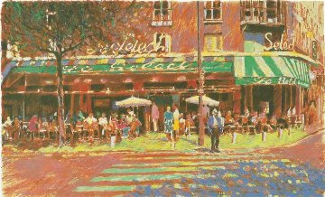 Cafe Select AP 1986 Limited Edition Print - Aldo Luongo
