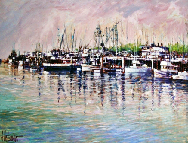 Untitled Painting  (Harbor) 45x57