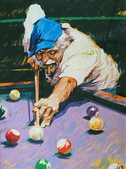 Aldo Luongo Limited Edition Print Prints Billiards 1996