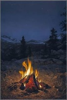 Mountain Campfire 1989 Limited Edition Print - Stephen Lyman