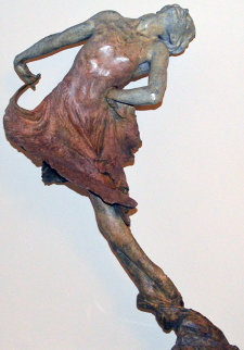 Red Dress 1/2 Life Size Bronze Sculpture 2001 Sculpture - Richard MacDonald
