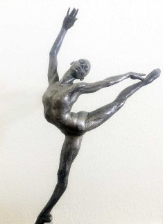 Sissone Platinum Patina Sculpture  28 in Sculpture - Richard MacDonald