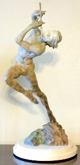 Flutist 1/3 Life Size Bronze Sculpture 2014 32 in Sculpture - Richard MacDonald