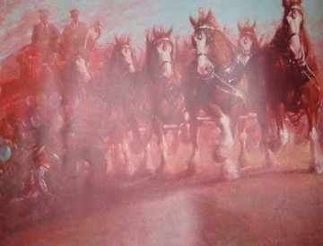Anheuser Busch Clydesdales 1989 Limited Edition Print - Richard MacDonald