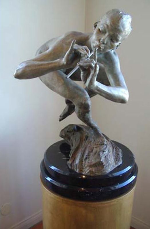 Piper 1/2 Life Size Nude Bronze Sculpture 1999