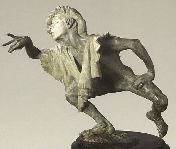 La Fuite Du Temps Bronze Sculpture Sculpture - Richard MacDonald